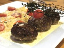 Bouletten in Gorgonzolasauce mit Spätzle - Rezept
