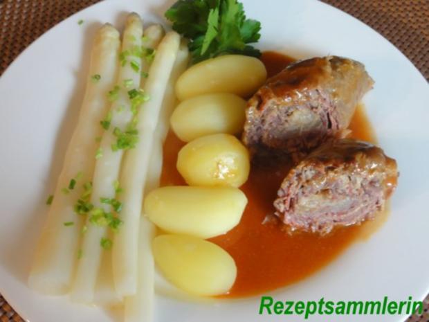 Fleisch:    RINDERROULADEN an Wildsauce - Rezept