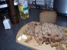 Croutons mit Kräutern und Knoblauch - Rezept