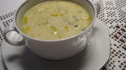 Käsesuppe mit Hackfleisch - Rezept