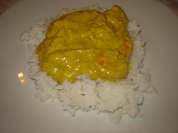 Garnelen in scharfer Kokos-Currysoße - Rezept
