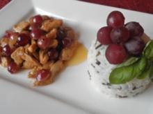 Sherry - Hähnchen mit Weintrauben - Rezept