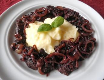 Rezept: Putenleber in Rotwein - Zwiebel - Soße