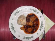 Gulasch mit Bohnen und Speck - Rezept