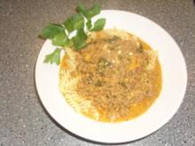 Pasta mit Hackfleisch und Schafskäse - Rezept