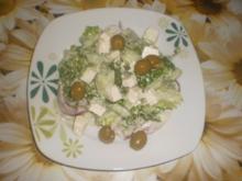 Griechischer Gurkensalat mit Schafskäse - Rezept