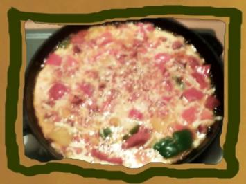 Paprika -Salami Omlett - Rezept