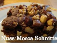 Nuss-Mokka-Schokoschnitten - Rezept