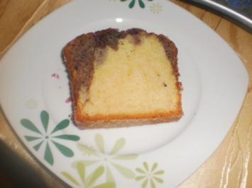 Marmorkuchen mit Blaubeeren - Rezept