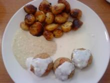 Zwergi's Mini - Frikadellen an Mini - Bratkartoffeln mit Artischocken - Dip - Rezept