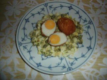 Eier in knuspriger Hülle - Rezept