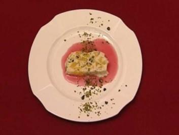 Kulfi - Mangoeis auf Granatapfelspiegel (Meike Gottschalk) - Rezept