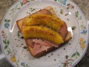 Toast: Schinkentoast mit Currybananen - Rezept