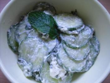 Arabischer Gurkensalat - Rezept