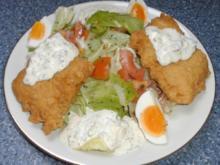 Backfisch mit Salat - Rezept