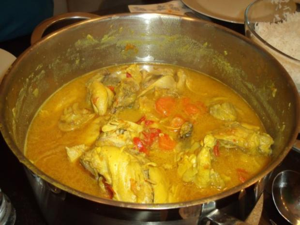 Karibischer Hähnchentopf mit Kürbis - Rezept