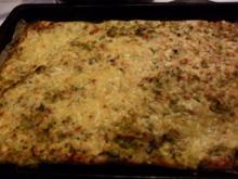 Poree-Flammkuchen auf Blätterteigboden - Rezept