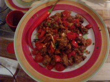 Rezept: Pfanne in  Red oder Die rot-scharfe-chinesische -Versuchung