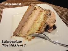 """Biskuit:   BUTTERCREME  """" FÜRST - PÜCKLER - ART """" - Rezept - Bild Nr. 2"""