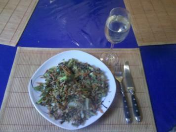 Vegetarisch: Pikante Reis-Gemüsepfanne - Rezept
