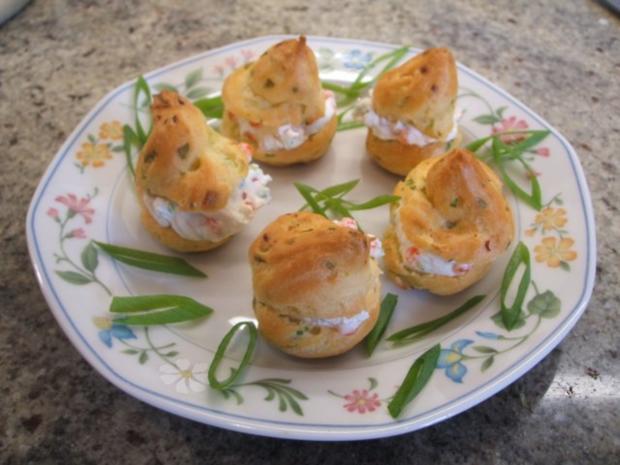 Pikantes Backen: Miniwindbeutel mit Kaviar-Füllung - Rezept