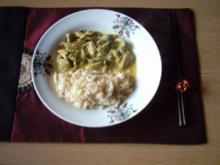 asiatische Hähnchenbrustfilets mit Jasminreis - Rezept