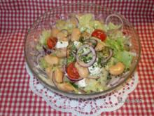 Salat mit Bohnen und Schafskäse - Rezept