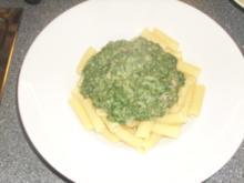 Pasta mit Spinat und Ziegenfrischkäse - Rezept