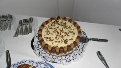 Eierlikör-Pfirsich-Torte - Rezept