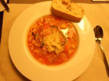 Italienische Gemüsesuppe Minestrone Vegetarisch - Rezept