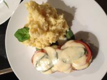 Überbackene Kalbsschnitzel mit Aubergine und Mozzarella - Rezept