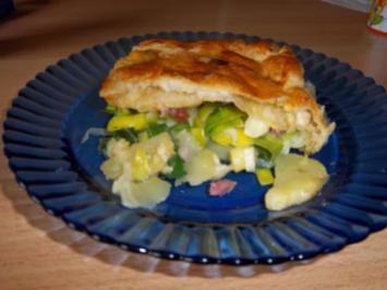 Kartoffel-Lauch-Pastete - Rezept
