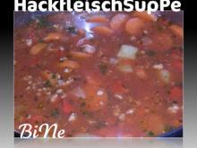 BiNe` S HACKFLEISCHSUPPE - Rezept