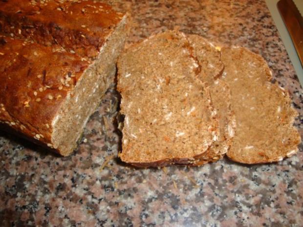 Dinkel-Haferflocken- Möhren Brot - Rezept - Bild Nr. 8