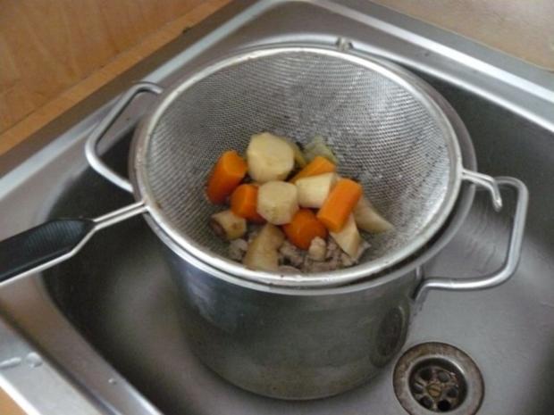 Frühlinssuppe mit Nudeln und Gemüse - Rezept - Bild Nr. 9