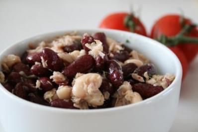 Bohnen Zwiebel Salat - Rezept