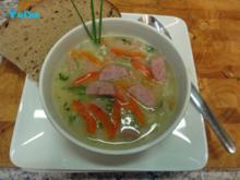 Gebundene Gemüsesuppe mit Wurst - Rezept