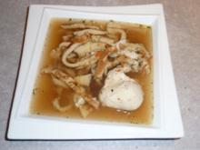 Schwäbische Flädlessuppe mit Ei Einlage - Rezept - Bild Nr. 2