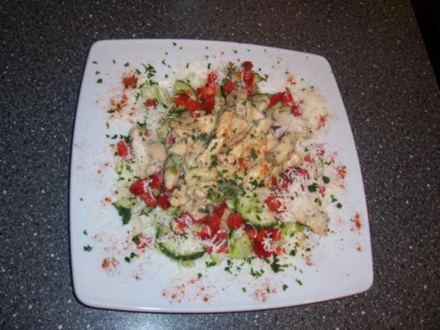 Frühlingssalat mit Hähnchenbrust- Geschnetzeltes - Rezept - Bild Nr. 7