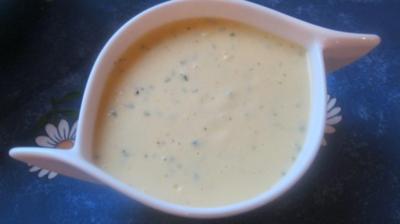 Weiße Knobi-Fischsauce - Rezept