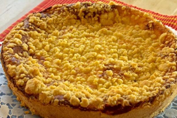 Kase Kirschkuchen Mit Streusel Rezept Kochbar De