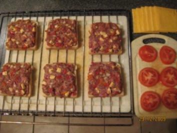Toast überbacken mit vielen Gewürzen - Rezept