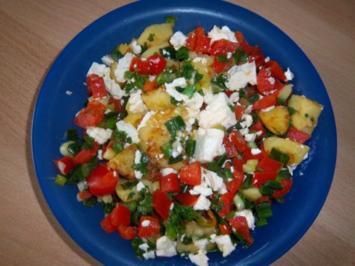 Kartoffelpfanne mit Hirtenkäse - Rezept