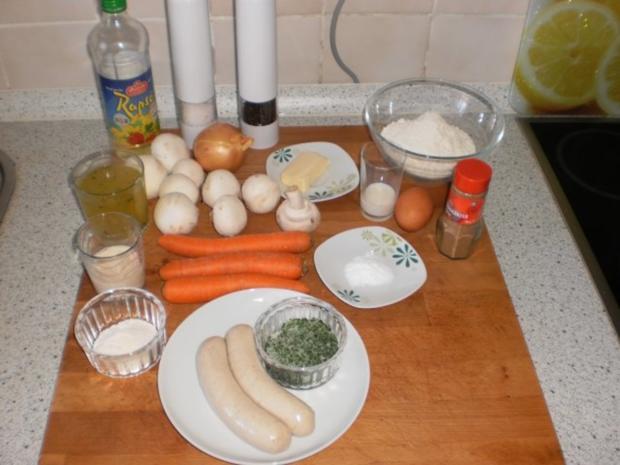 Bratwurst-Pilz-Ragout mit Böhmischen Knödeln - Rezept - Bild Nr. 2