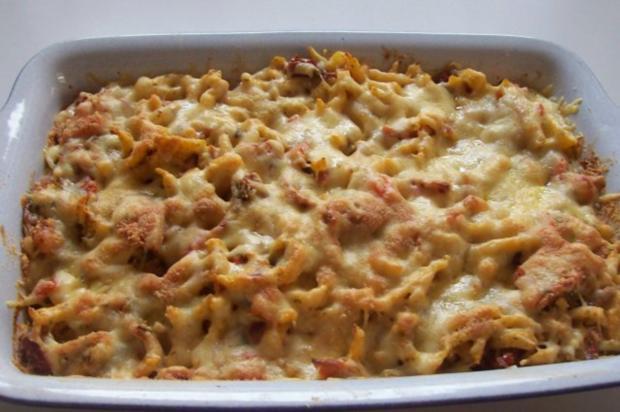 Spätzle überbacken mit dreierlei Käse - Rezept