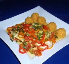 Rezept: Fisch-Gemüse aus dem Backofen mit Basmati-Reis