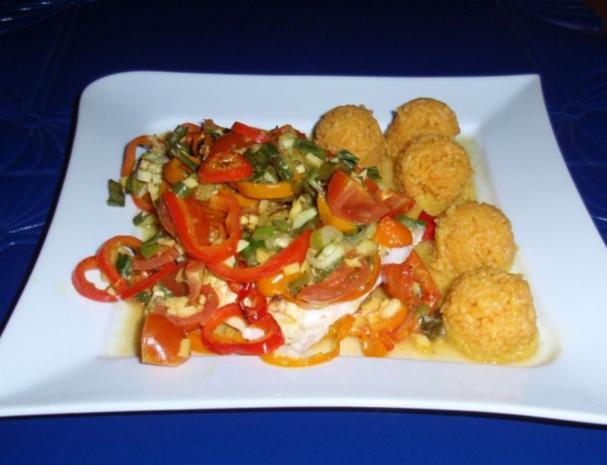 Fisch-Gemüse aus dem Backofen mit Basmati-Reis - Rezept - Bild Nr. 13