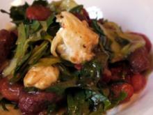 Lauwarmer Salat mit Merguez und karamellisierten Tomaten - Rezept