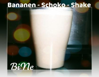 BiNe` S BANANEN - SCHOKO - SHAKE - Rezept