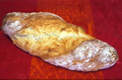 Pain Paillasse (Rustikales Baguette) - Rezept